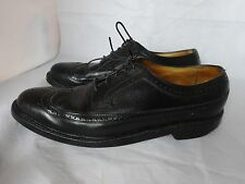 Vtg Florsheim Imperial Longwing Wingtip 5 Nail Leather Shoes Mens Size 11 1/2