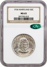 1934 Maryland 50c NGC/CAC MS65 - Colorful Toning - Silver Classic Commemorative