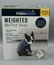 Therapedic Medium Weighted Dog Pet Vest in Grey Calming & Relaxing