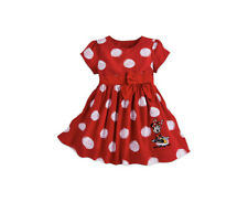 New DISNEY PARKS Authentic Girls Red Dress-Minnie Mouse Polka Dot Dress 3 MONTHS