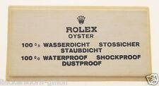 VINTAGE ROLEX OYSTER - SIGN / SCHILD OFFICAL AGENT - ROHSEIDE - 1960er