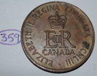 Canada 1953 Queen Elizabeth II Coronation Medal - Token Lot #359