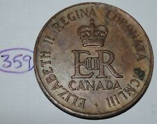 Canada 1953 Queen Elizabeth II Coronation Medal - Token Lot #359
