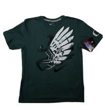 Nike University Of Oregon NEW NWT Nike T Shirt Green Silver Helmet Mens Large