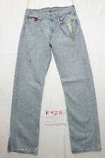 Levis 501 con schizzi di vernice boyfriend jeans usato (Cod.F928) Tg.46 W32 L34
