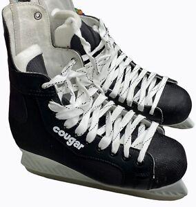 Vintage New With Box Men's American Cougar Ice Hockey Skates 7 Black White