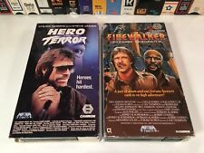 * Firewalker & Hero And The Terror Betamax NOT VHS Lot Chuck Norris Action Beta