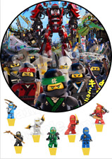 Lego Ninjago Movie Kai Lloyd Cole Nya Eßbar Torten Aufleger Bild Party Deko neu