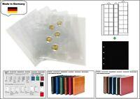 10 LOOK 1-7393 Münzhüllen PREMIUM 35 Fächer Für Münzen bis 28 mm + schwarze ZWL