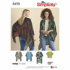 Simplicity Sewing Pattern 8419 SZ XS-XL Misses' Kimono Style Wrap Variations