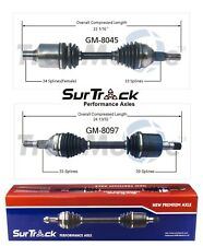 For Buick Regal Chevy Impala Monte Carlo Pair of 2 Front CV Axles SurTrack Set