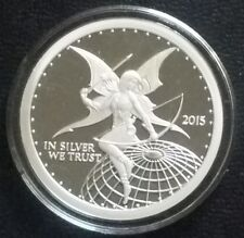 Reddit Silverbug 1 oz Silver Proof Archer version 3  Round Coin Rare Collectable