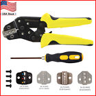 Insulated Cable Connectors Terminal Ratchet Crimping Tool Wire Crimper Pliers