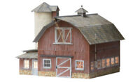 Woodland Scenics BR5865 O Scale, Old Weathered Barn, Built & Ready w/ LED Light
