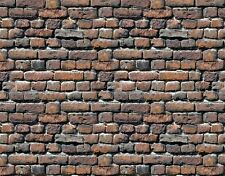 @ 6 Sheets bumpy Embossed Brick stone wall paper 21x29cm Ho 1/87 landscape