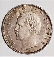Germany Bavaria 1904 D 5 Mark .900 Silver Coin Otto KM 915