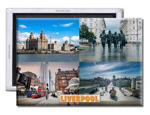 Liverpool City England UK - Souvenir Fridge Magnet