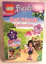 Lego Best Friends Collection 4 Books in 1 Emma Figure & Ice Cream Stand Set New