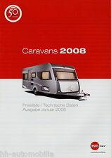 Preisliste Bürstner Caravan Preise 2008 Wohnwagen Premio Averso Belcanto Trecent