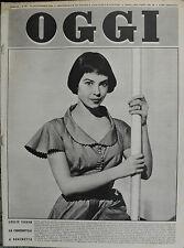 OGGI N°39/ 24/SET/1953 * LESLIE CARON DA CENERENTOLA A REGINETTA *