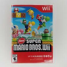 New Super Mario Bros. Wii (Nintendo Wii, 2009) - Case, No Manual - Tested