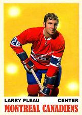 CCustom made OPC 1970-71 Montreal Canadiens Larry Pleau Hockey  card
