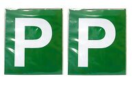 2pcs Driver Magnetic P Plate (Green) for Victoria & Western Australia Brand New