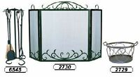 Scroll Design Hand Forged Wrought Iron Fireplace Screen.