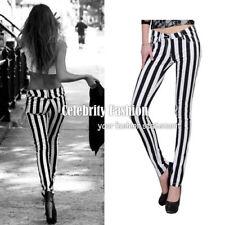 Cotton Striped Regular Size Pants for Women