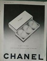 1955 Chanel No. 5 box perfumed soap vintage ad