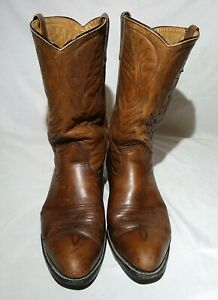 Vintage RED WING 9801 Pecos Brown Leather Western Cowboy Boots Men's Size 12