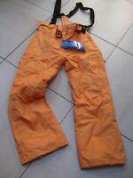 BNWT Mens TRESPASS Salopettes SKI PANTS orange melon XL W42 L33 mullerplus