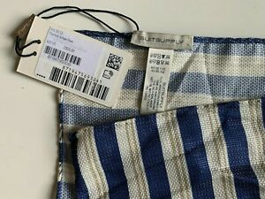 NWT Suitsupply Pocket Square Stripe Pattern Blue (PS18113)
