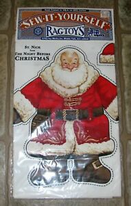 Sew it Yourself RAGTOYS St Nick Santa Claus The Night Before Christmas Doll