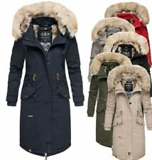 Navahoo Damen Winter Jacke Parka FVS1 Mantel Winterjacke warm Kunstfell KIN-JOO