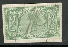 Queen Victoria - 2s - Green - Judicature Fees - Used - On Paper,