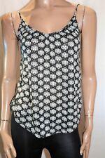 H&M Brand Black White Print Cami Tank Top Size XS BNWT #SW41