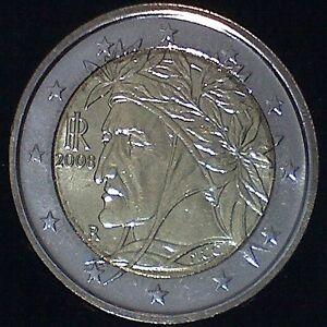 2 Euro Kursmünze Italien 2008 bankfrisch # Dante # RAR