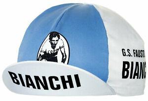 Bianchi Fausto Coppi Men's Pro Team Retro Euro Cycling Cap Hat