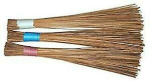 Natural Coconut Leaf Grass Broom Stick (Teela/Nariyal Jhadu) - Pack of 3