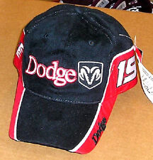 Nascar DODGE #19 Black/Red Sports Cap - Casey Atwood