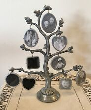 Family Tree Photo Frame Free-Standing Holds 18 Photos ( 9 on each side )