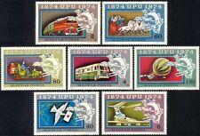 UNGHERIA 1974 UPU/Cavalli/Coach/Piano/Treno/POST Bus/Furgone/trasporto Ferroviario/7v n45267