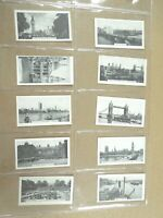 1936 Teofani LONDON VIEWS photos photographic set 12 cards Tobacco Cigarette