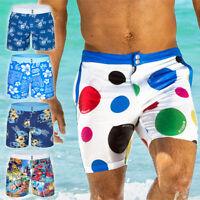Summer Men's Beach Shorts Swimming Swim Trunks Surf Board  Swimwear Slim Pants