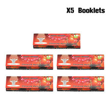 5 Booklets HORNET Fruit VERY CHERRY Flavored Cigarette Rolling Paper 1 1/4 Size