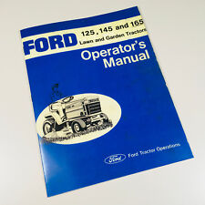 FORD 125 145 165 LAWN GARDEN TRACTOR OWNERS OPERATORS MANUAL MAINTENANCE