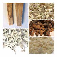 Resin Incense & Smudge Sampler - Frankincense, Myrrh, Copal, Palo Santo, Sage
