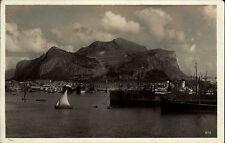 Palermo Italien Italia Sizilien AK 1939 Hafen Port Port Harbor Monte Pellegrino