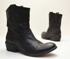 FRYE Model 76461 'Carson Tab Short' Black Leather Booties Boots Sizes Wome's 6 B